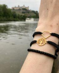 Lebensbaum armband gold schwarz 2