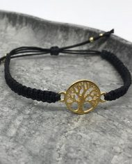 lebensbaum armband gold schwarz