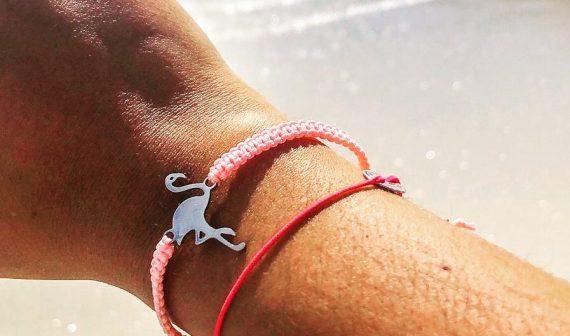 flamingo edelstahl rosa
