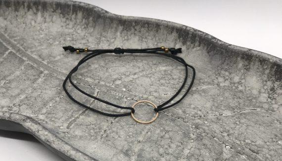 filigranes kreis armband rosegold schwarz