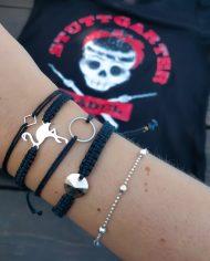 flamingo armband Edelstahl schwarz silber 1