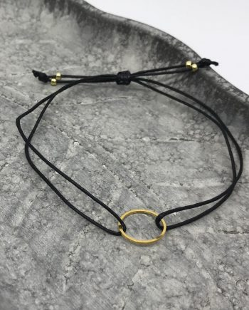 filigranes kreis armband gold schwarz