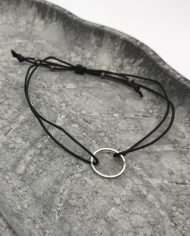 filigranes kreis armband silber schwarz