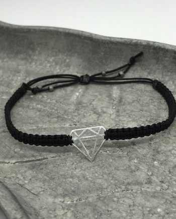 diamant armband 925 silber schwarz