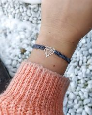 diamant armband silber grau