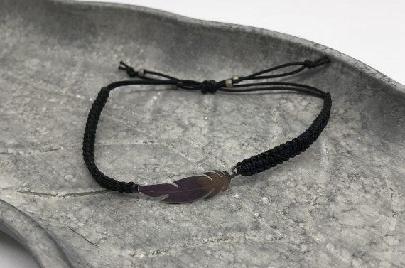 feder edelstahl silber schwarz