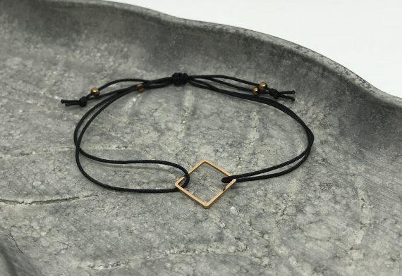 filigranes quadrat armband rosegold